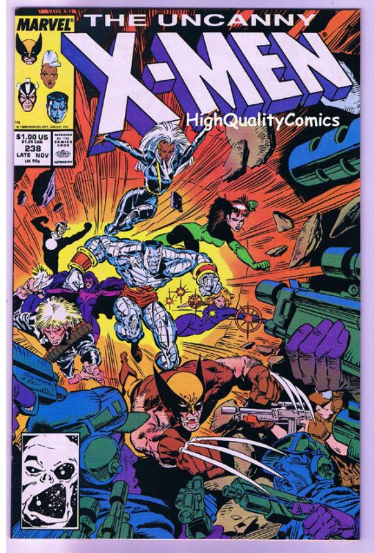 X-MEN #238, VF, Wolverine, Chris Claremont, Uncanny, more in store