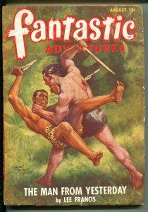 FANTASTIC ADVENTURES 8/1948-ZIFF-DAVIS-PULP SCI-FI-HINTON-LEE FRANCIS-SHARP-fr