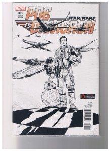 Star Wars Poe Dameron #001 VF/NM  Gamestop Edition Sealed in Plastic
