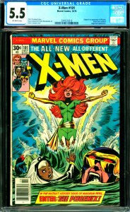 X-Men #101 CGC Graded 5.5 Origin and 1st appearance of Phoenix. Black Tom Cas...