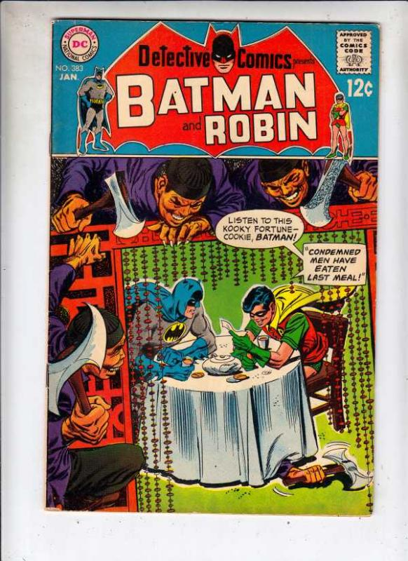Detective Comics #383 (Jan-69) VF- High-Grade Batman, Robin the Boy Wonder