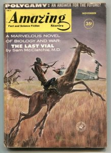 Amazing Stories November 1960-Polygamy- Last Vial VG