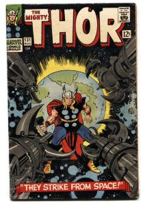 THOR #131 1966-MARVEL COMICS-KIRBY comic book vg