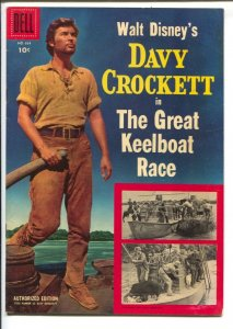 Davy Crockett in The Great Keelboat Race-Four Color Comics #664 1955-Dell-Dis...