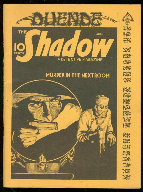 DUENDE #2-1976-WALTER GIBSON INTERVIEW-SHADOW-PULP ZINE FN/VF
