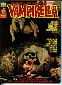 Vampirella #47 1975-Warren-Vampi cover-skull-terror & mystery stories-FN
