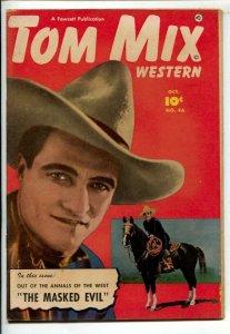 Tom Mix Western #46 1951-Fawcett-Photo cover-Carl Pfeufer story art-FN