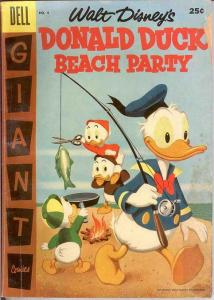DONALD DUCK BEACH PARTY (1954-1959 DELL GIANT) 4 GOOD COMICS BOOK