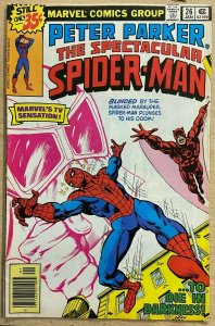 PETER PARKER, THE SPECTACULAR SPIDER-MAN #26 (Marvel,1/1979) F-VF Daredevil