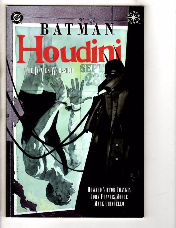 Lot Of 3 Batman DC Graphic Novels Holy Terror Houdini Spawn War Devil 1