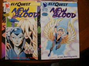 4 Near-Mint Warp ELFQUEST Comic NEW BLOOD #6 #7 #9 #10 (1993) Gertler Lee Yale