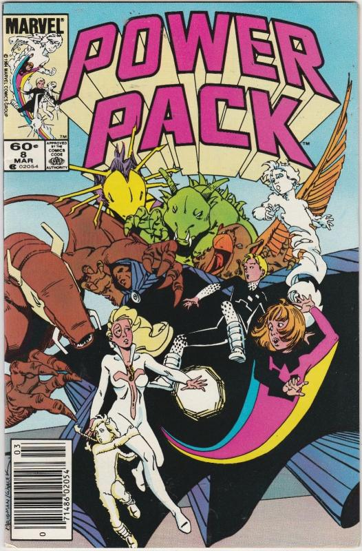 3 power pack marvel comic books 8 9 10 franklin richards louise