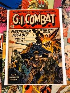 G.I. Combat #7 VG 4.0 quality comics FIREPOWER ASSAULT 1952 ten cents WAR golden