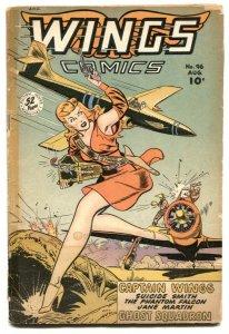 Wings #96 1948- Fiction House -GGA cover- G