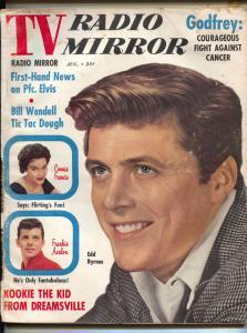 TV Radio Mirror-Edd Byrnes-Elvis-Connie Francis-Aug-1958