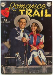 Romance Trail #5 1950- Photo cover- Golden Age DC Western- Nice VF
