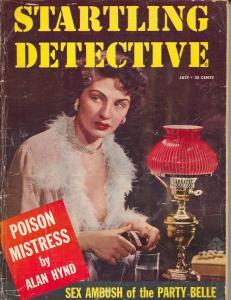 Startling Detective 7/1957-crime pulp-violence-poison-VG