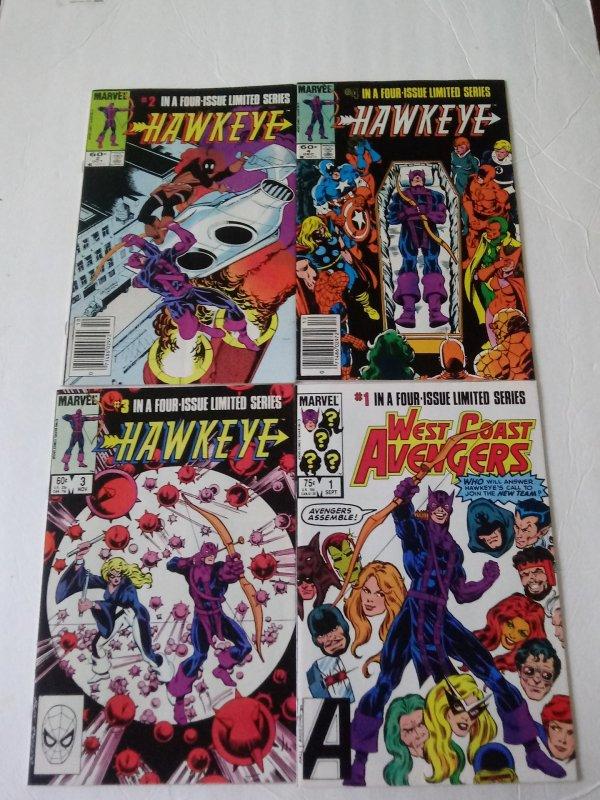 Hawkeye comic book lot of (4)  Marvel Comics CL#058