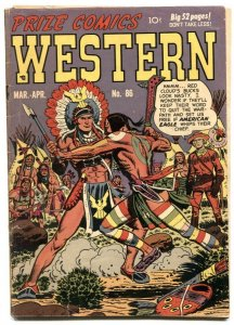Prize Comics Western  #86 1951-American Eagle story-missing centerfold