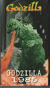 Godzilla 1985 VHS  Official sequel to the original Godzilla