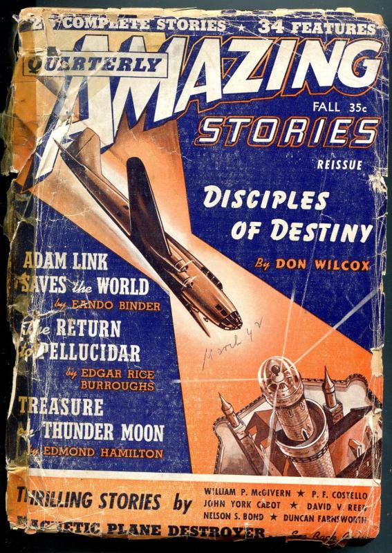 Amazing Stories Quarterly Fall 1942--BURROUGHS-MEN OF THE BRONZE AGE-pr/fr