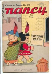 Comics On Parade #72 1950-Nancy & Sluggo-Ernie Bushmiller-fireworks-VG