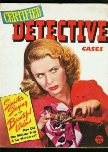 CERTIFIED DETECTIVE CASES DEC 1944-GUN MOLL COVER-TRUE CRIME-FN FN