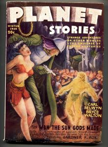 PLANET STORIES Wint 1946-FICTION HOUSE GOOD GIRL ART PULP VF-