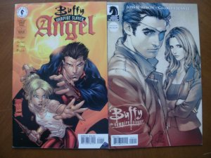 2 Dark Horse BUFFY THE VAMPIRE SLAYER Comic: ANGEL #1 (Animated) & SEASON 8 #2