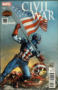 Civil War #001 - NM - Polybagged BAM Exclusive!