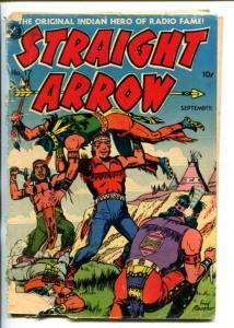 STRAIGHT ARROW  #17-1951-ME-INDIAN FIGHT COVER-FRED MEAGHER ART-fr