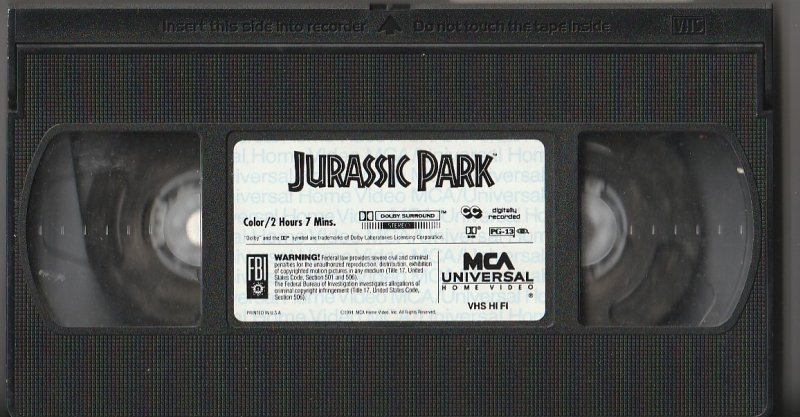 Jurassic Park VHS   Dinosaurs Are Back !