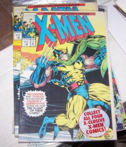 X-MEN # 2 MARVEL 1993 RARE PIZZA HUT POLYBAGGED wolverine +jubilee vs sabertooth
