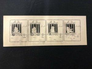 Unpublished Circus Monkey Comic Strip Art