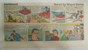 Superman Sunday Page #1123 by Wayne Boring from 4/23/1961 Size ~7.5 x 15 inches