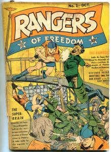 Rangers of Freedom #1 1941- Fiction House Golden Age- 1st Ranger Girl