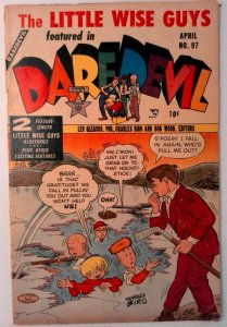 Daredevil Comics #97 Lev Gleason 1953 FN- Golden Age Comic Book Little Wise Guys