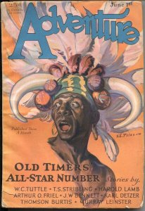 ADVENTURE  JULY15 1929--WC TUTTLE--TS STRIBLING--MURRAY LEINSTER--ARTHUR O ...