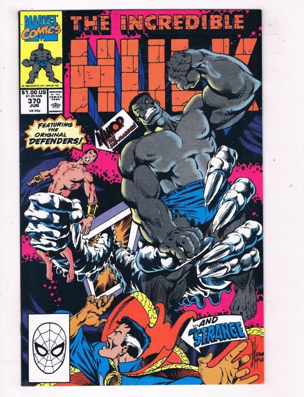 The Incredible Hulk #370 VF/NM Marvel Comics Comic Book Avengers Jun 1990 DE45