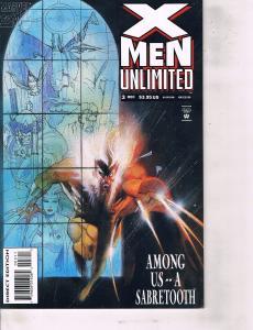 Lot Of 7 X-Men Unlimited Marvel Comic Book #3 10 16 17 19 24 29 Iron Man  AH8
