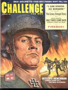CHALLENGE 1959 AUG-NAZI TERROR COVER-PULP FN