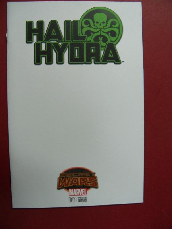 HAIL HYDRA, SECRET WARS,  #1,  BLANK VARIANT COVER