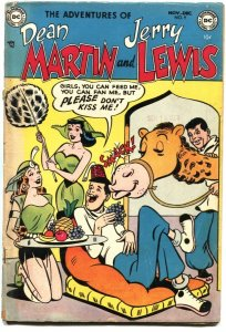 ADVENTURES OF DEAN MARTIN AND JERRY LEWIS #9-1953-HAREM GIRLS-RED BUTTONS