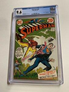 Superman 256 Cgc 9.6 Ow/w Pages Dc Comics Bronze Age