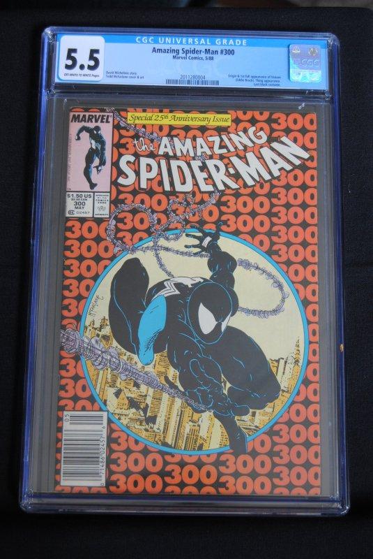 Amazing Spiderman #300,  5.5,  First full Venom. HOT! HOT!