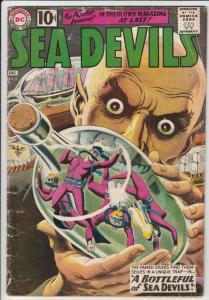 Sea Devils #2 (Dec-61) GD Affordable-Grade Sea Devils (Dane Dorrence, Biff Ba...