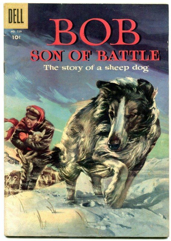 Bob Son Of Battle- Four Color Comics #729 1956- Sheep Dog FN