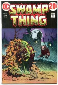 SWAMP THING #4 1973-DC COMICS-BERNI WRIGHTSON-LEN WEIN f/vf