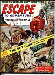 Escape to Adventure bad mag May 1963-Spicy native menace-pulp thrills!