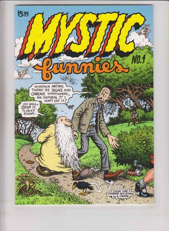 Mystic Funnies #1 VF-(1st) print - robert crumb - mr. natural - underground 1997
